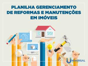 Planilha Gerenciamento de reformas e manutenções em imóveis