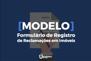Modelo formulário de registro de reclamações em imóveis