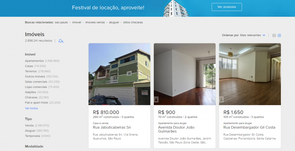 MercadoLivre  - portal de anuncio
